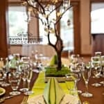 Lime Runner with Chocolate Base Linen