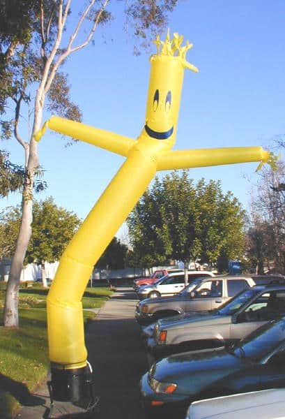 Car Dealership Balloon Man Gif