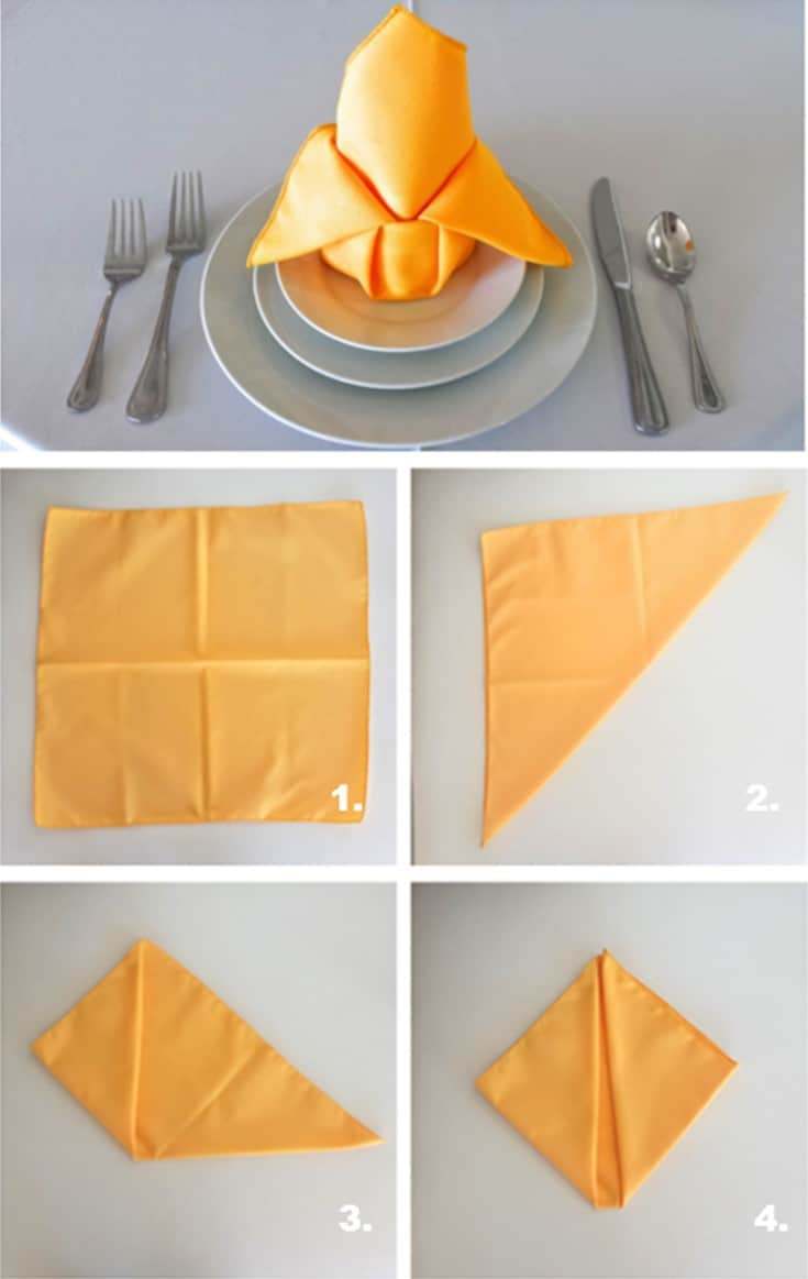 Napkin folding thanksgiving front range event rental for How to fold napkins into turkeys