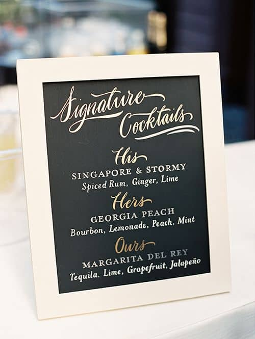 2017 wedding 40 ways to be frugal but not cheap front range having a signature cocktail passed around to guests during the cocktail hour is a nice way to personalize your wedding and save on alcohol costs junglespirit Choice Image
