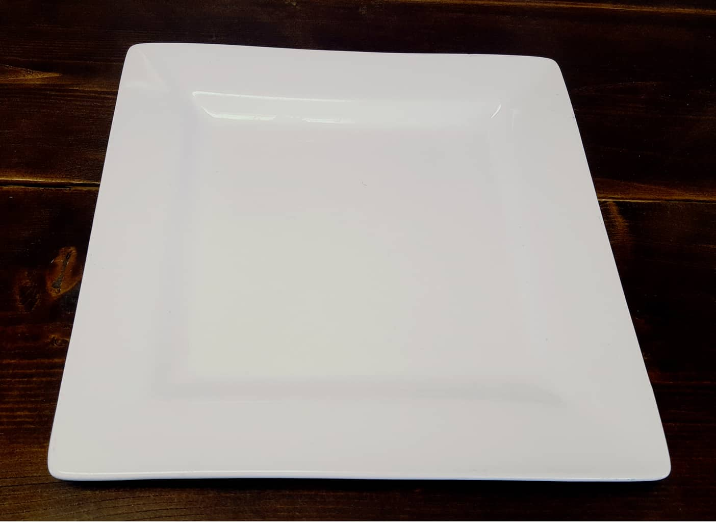 ... Dinner Plate - Square ... & Square - White Plates - Front Range Event Rental