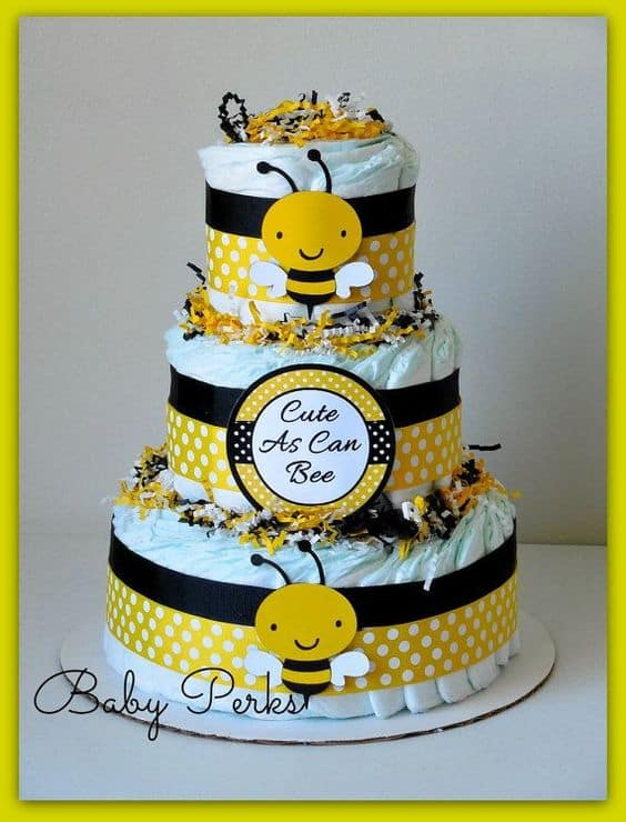 Honey Bee Diaper Cake